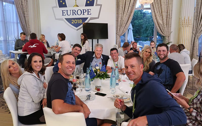 2018 Ryder Cup European Team Party Paris